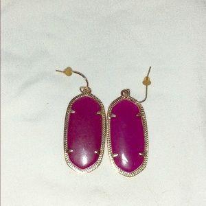 Kendra Scott gold dangle earrings